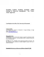 SEBDA Research Positive Handling – Article Sept 2005