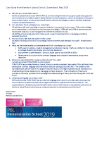 Case Study from Nambour Special School, May 2020